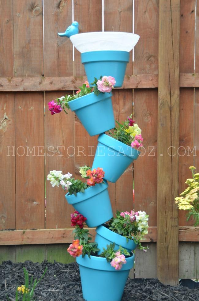 Tilted Garden Bird Bath DIY Projects Ardmore Photography
